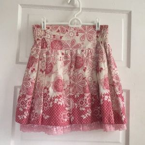 Dresses & Skirts - Pink Patterned Mini Skirt